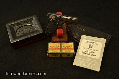 Baby Browning Pistol .25 ACP with Extras