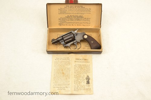 Colt Detective Special First Issue Made in 1934